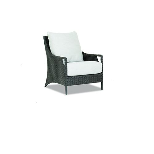 Lagos Cognac Club Chair with Cast Silver Cushions