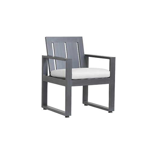 Redondo Burnished Gray Dining Chair with Cast Silver Cushion