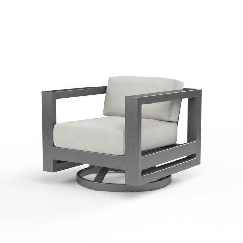 Redondo Brushed Slate Powdercoat Swivel Club Chair
