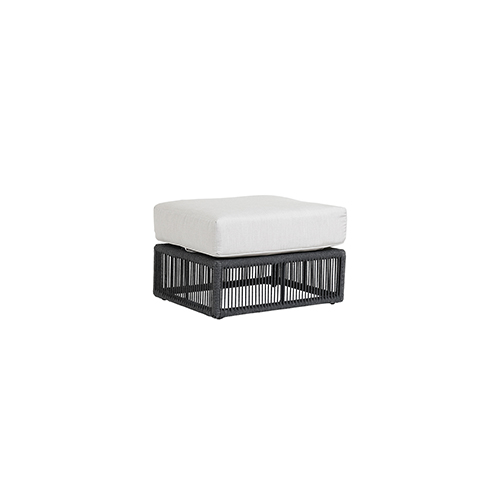 Milano Steel Gray Ottoman with Echo Ash Cushion
