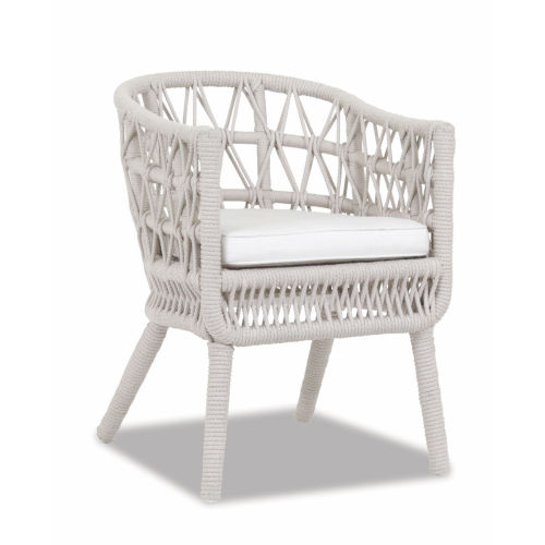 Dana Linen Rope Rope Dining Chair with Linen Canvas Cushion