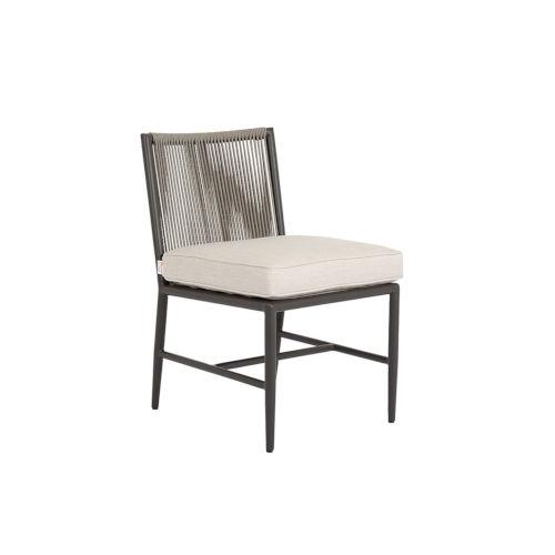 Pietra  Graphite Outdoor Armless Dining Chair