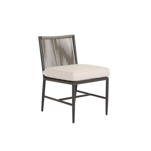 Pietra Graphite Powdercoat Armless Dining Chair