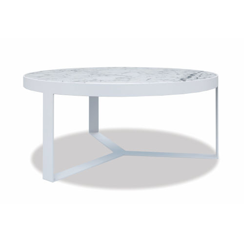 Bazaar White 36-Inch Coffee Table