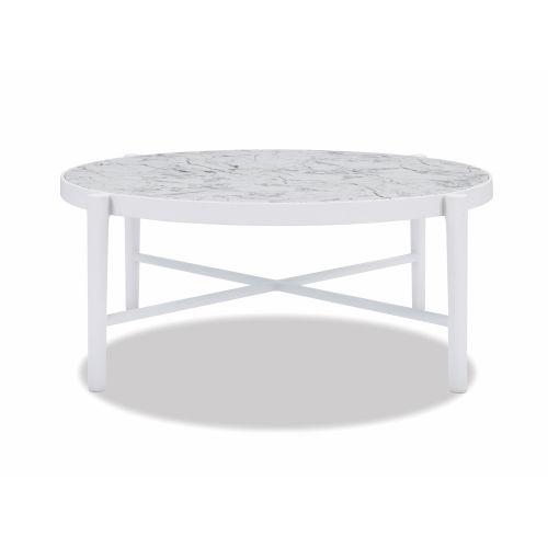 Bazaar White 40-Inch Coffee Table