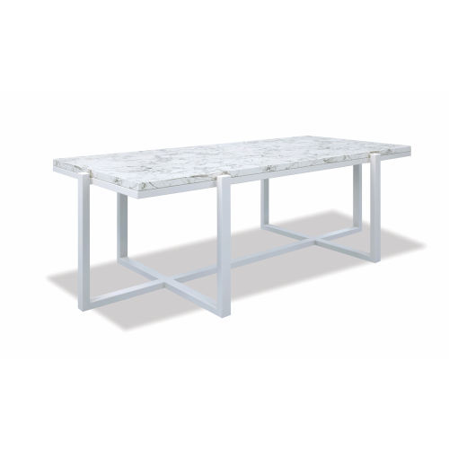 Bazaar White 24-Inch Rectangle Coffee Table