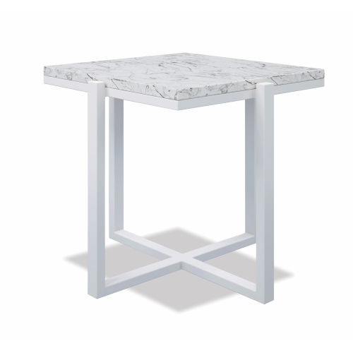 Bazaar White 22-Inch End Table
