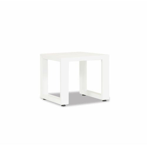 Newport Frosted White End Table