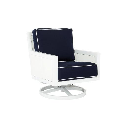Regatta Frost White Outdoor Swivel Rocking Club Chair