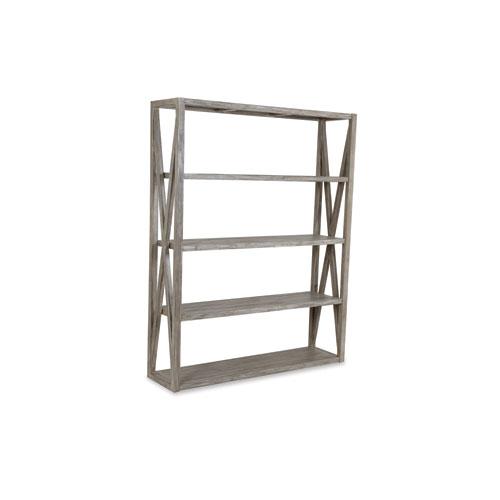 Teak Driftwood 60-Inch Bookcase