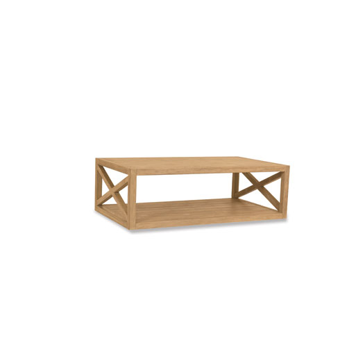 Sunset West Teak Rustic Natural 60-Inch Coffee Table