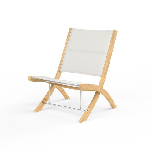 Huntington Natural Teak Folding High Rack Chair