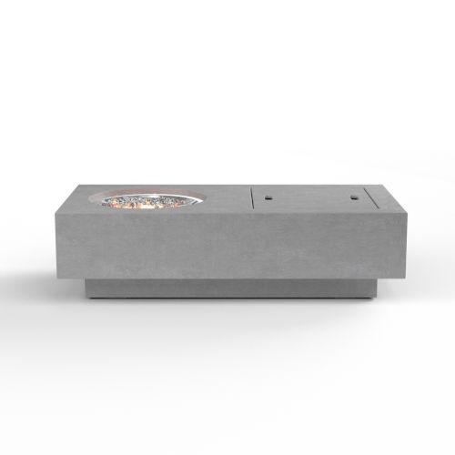 Bazaar Gravelstone 30-Inch Rectangular Fire Table