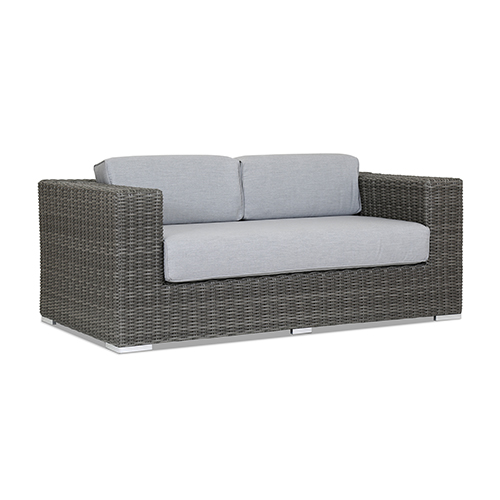 Emerald II Loveseat With Cushions In Canvas Granite With Self Welt