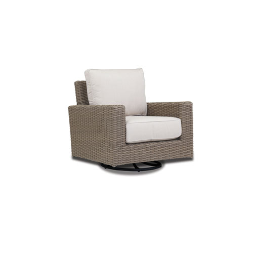 Coronado Swivel Rocker with cushions in Canvas Flax with self welt