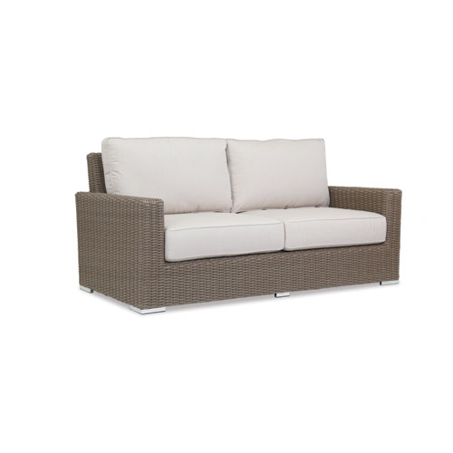 Coronado Loveseat with cushions in Canvas Flax with self welt