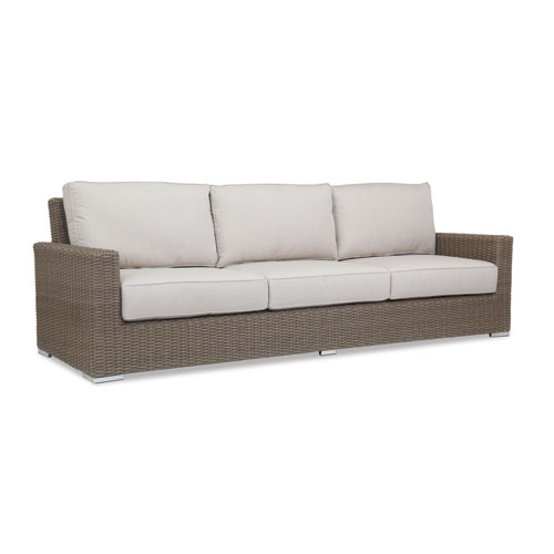 Sunset West Coronado Sofa with cushions in Canvas Flax with self welt