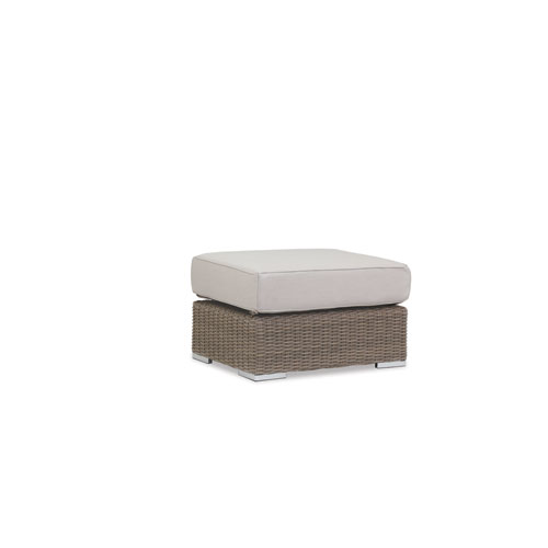 Coronado Ottoman with cushions in Canvas Flax with self welt