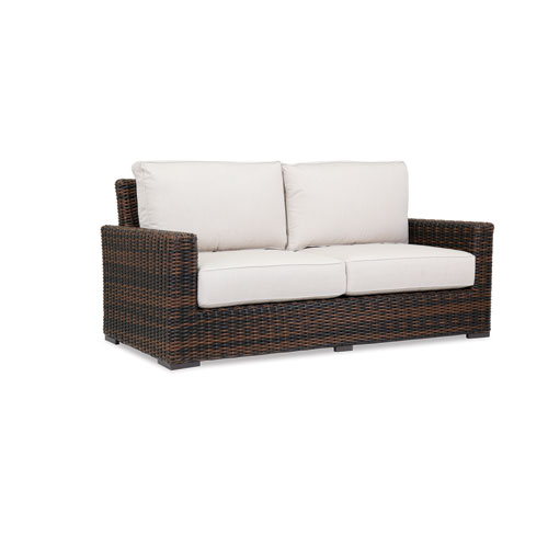 Sunset West Montecito Loveseat with cushions in Canvas Flax with self welt