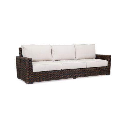 Montecito Sofa with cushions in Canvas Flax with self welt