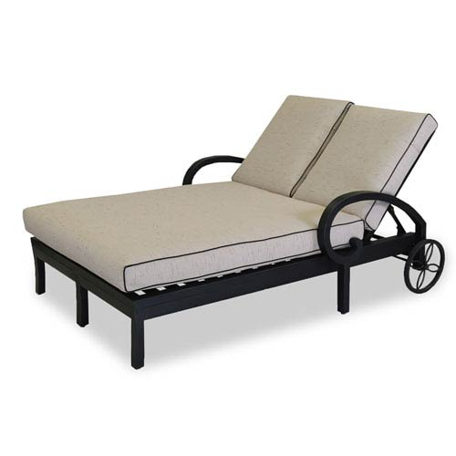 Monterey Canvas Double Chaise Lounge