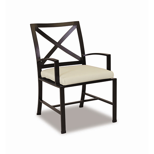 La Jolla Dining Chair With Cushions In Canvas Flax With Self Welt