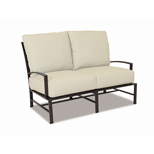 La Jolla Loveseat With Cushions In Canvas Flax With Self Welt