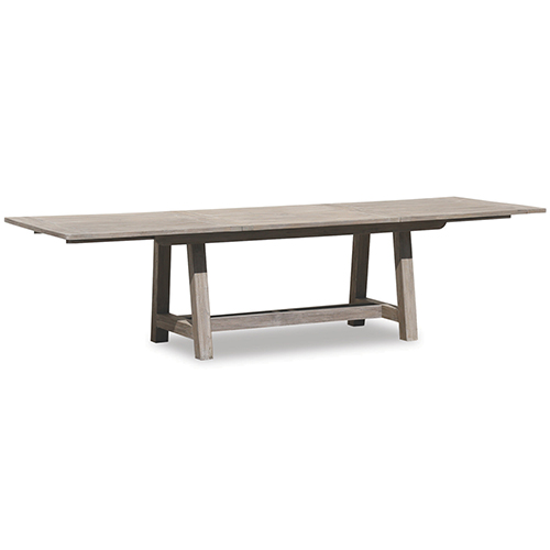 Teak 118-Inch Extending Dining Table