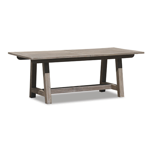 Teak 79-Inch Extending Dining Table