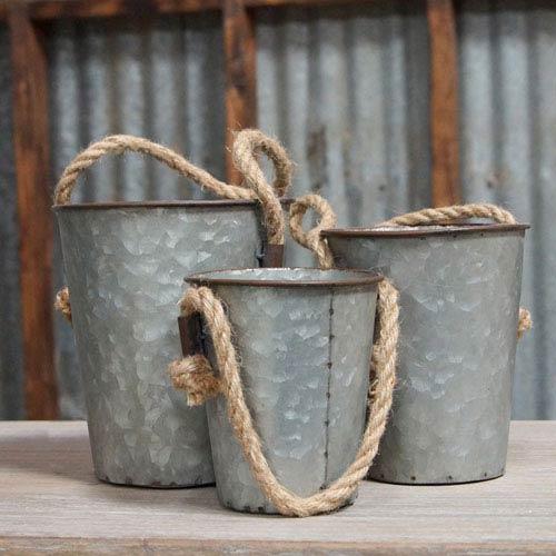 Set Of Three Buckets