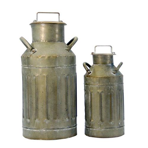 VIP International Metal Milk Jugs, Set of Two
