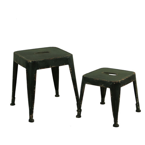 Set Of Two Black Stools