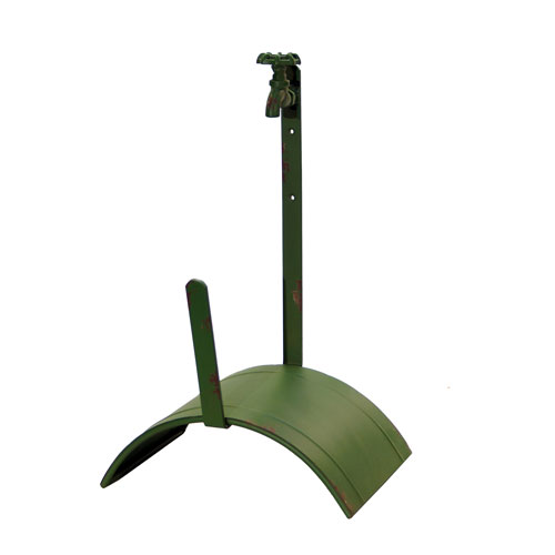 Green Garden Hose Holder