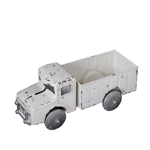Metal Decorative Truck White