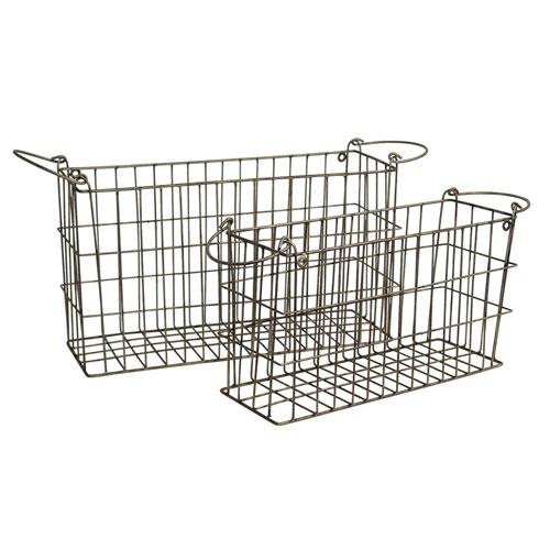 Metal Baskets, Set of Two