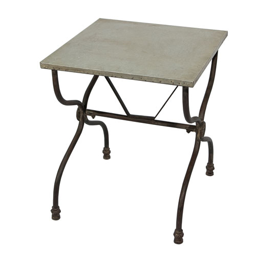 Metal 20 In. Table