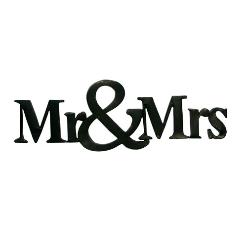 Metal Mr and Mrs Sign