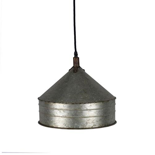 Metal One-Light Hanging Pendant Light