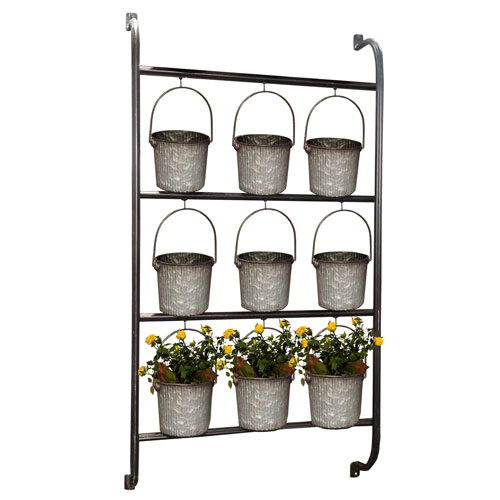 Metal Wall Planter with Buckets