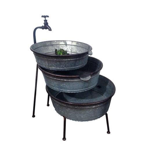VIP International Metal Three-Tiered Fountain