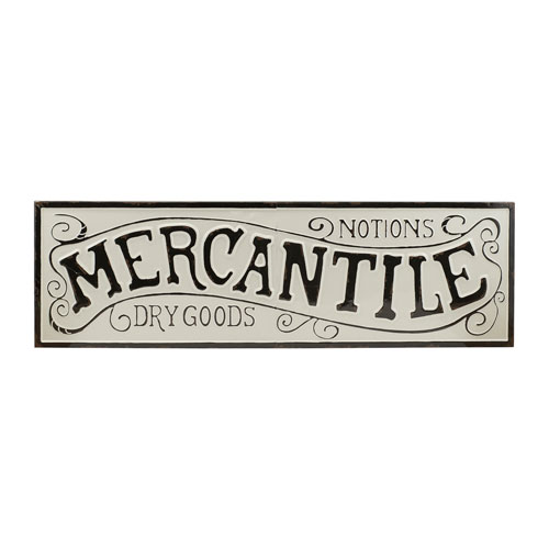 Mercantile Metal Sign