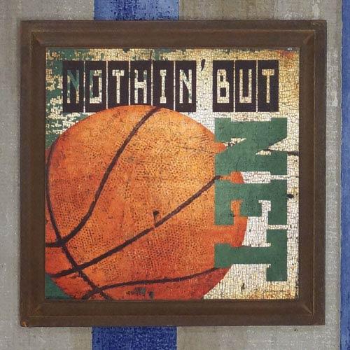 Wood Basketball Sign