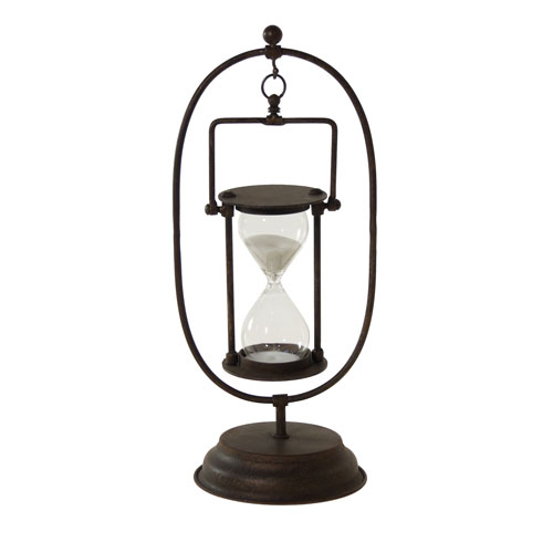 Metal Hour Glass with Stand