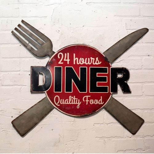 Metal Sign Diner