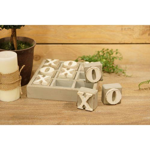 Wood Block Tic Tac Toe