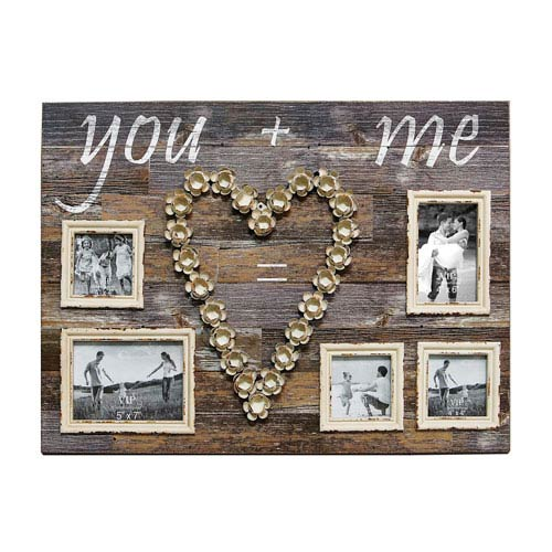 Wood Large You and Me Plaque