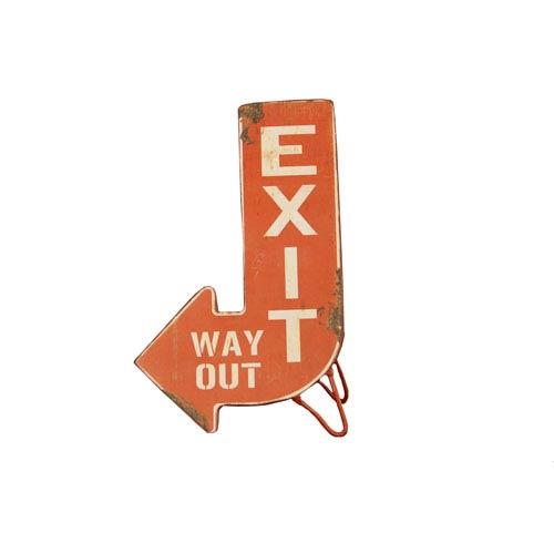 Metal Standing Exit Sign