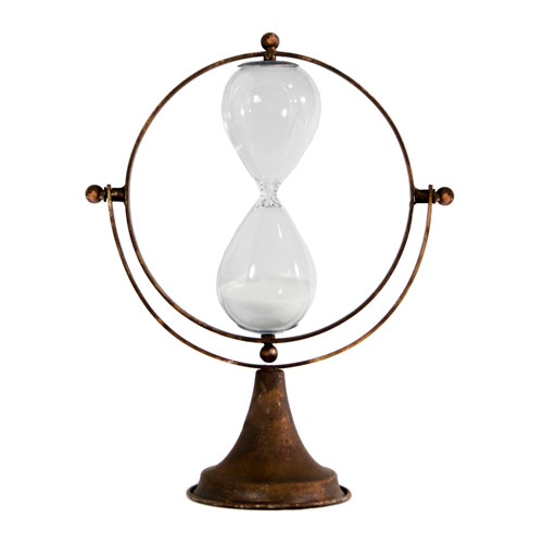 Metal Decorative Hourglass