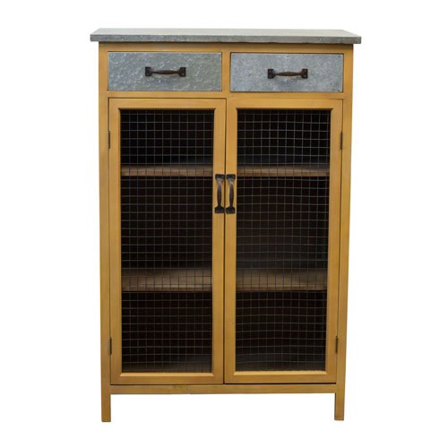 VIP International Wood 48 In. Cupboard with Galvanized Top