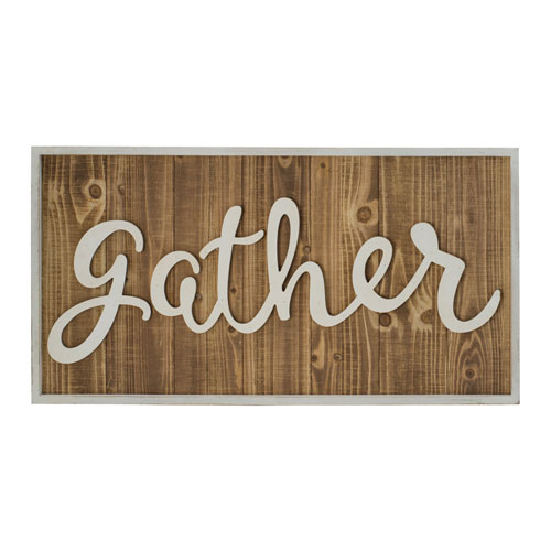 VIP International Gather Wood Sign